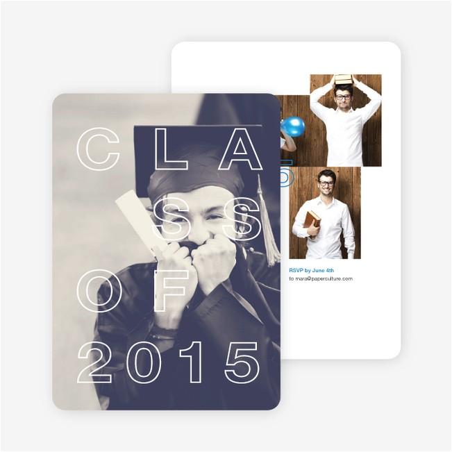 classy graduation announcements p 12414