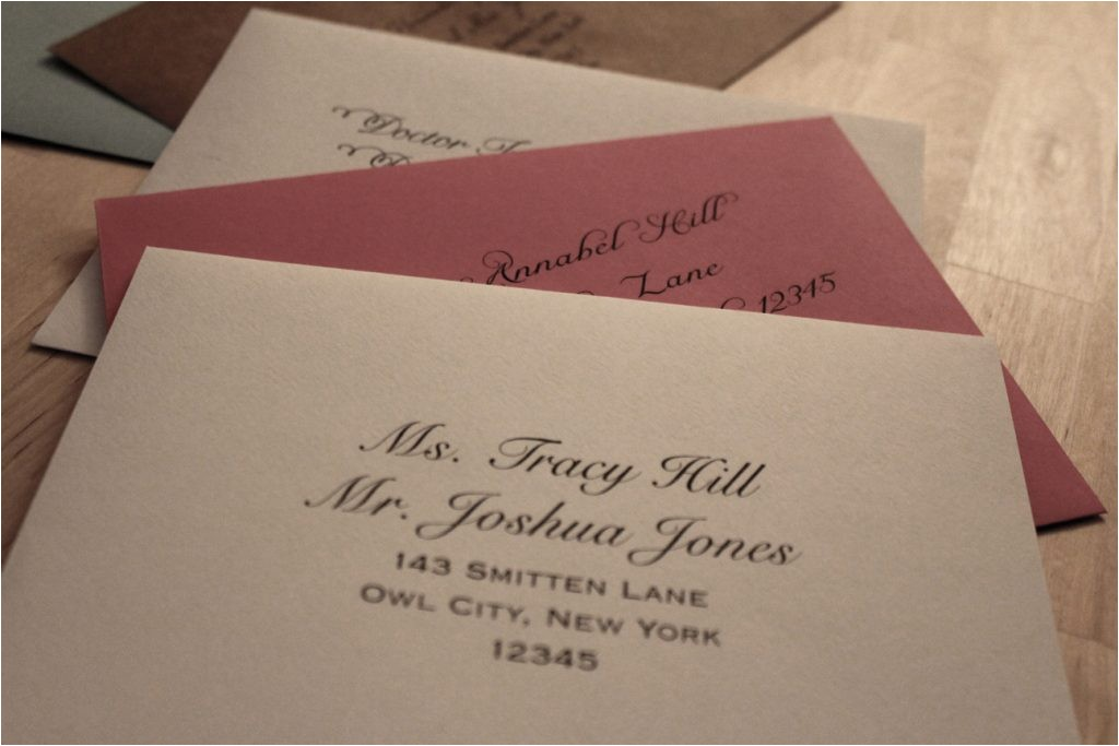 clear labels on wedding invitations
