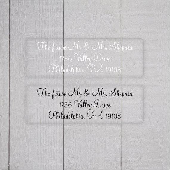 wedding invitation return address labels