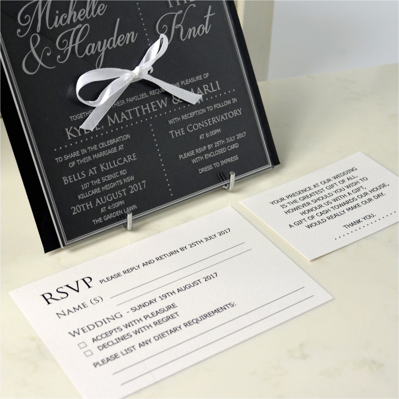 engraved square clear acrylic wedding invitation package