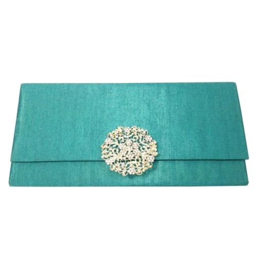 silk clutch pouch embellished for wedding invitations