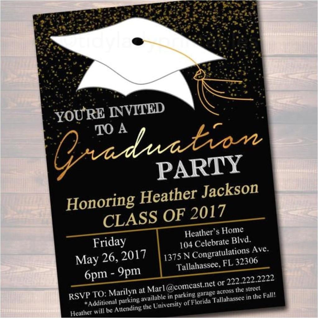 graduation invitation etiquette
