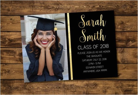 graduation invitation graduate 2018 high