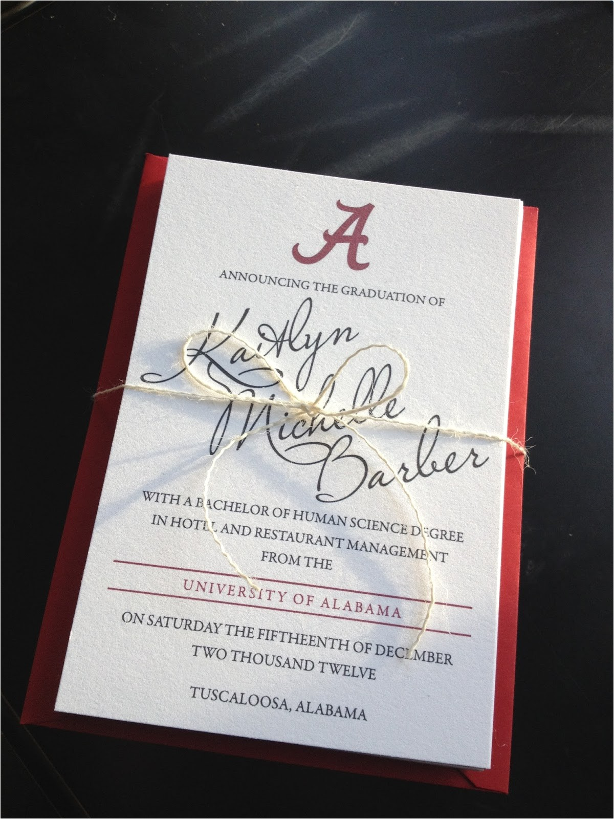 alabama graduation announcements