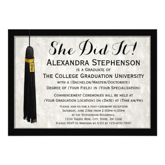 she did it tassel college graduation card 256182182196913359