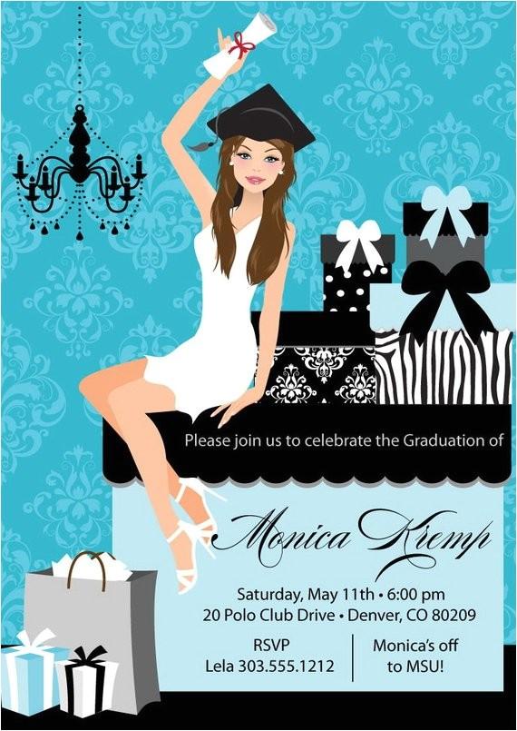 college graduation party invitation diy