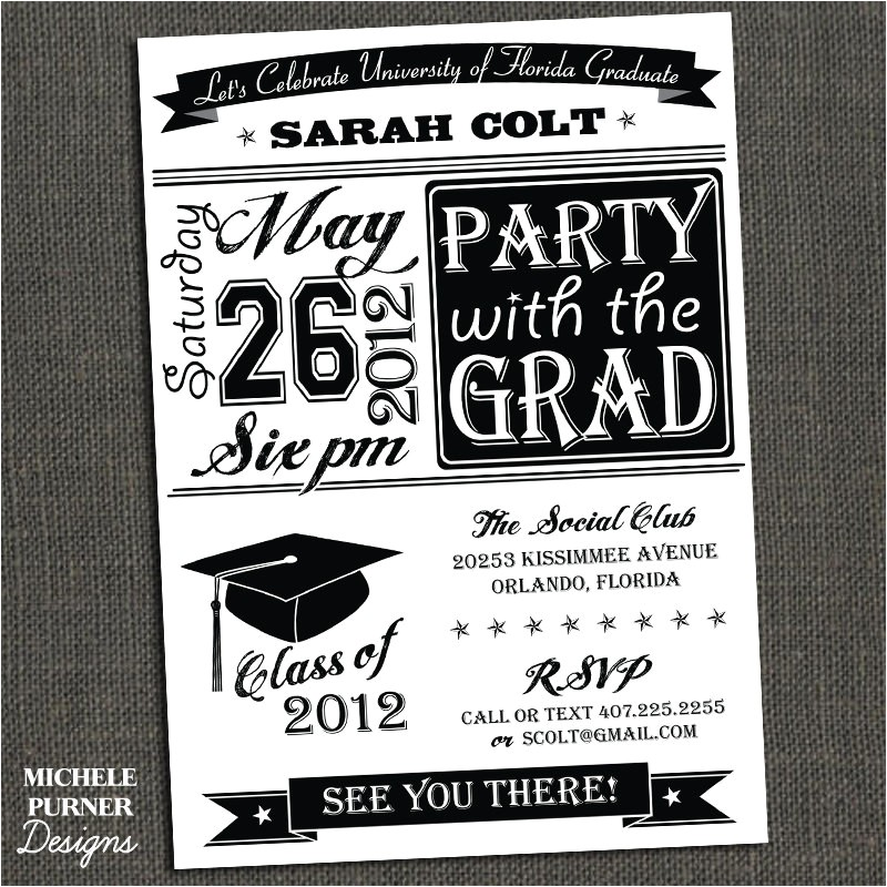 college graduation party invitations template