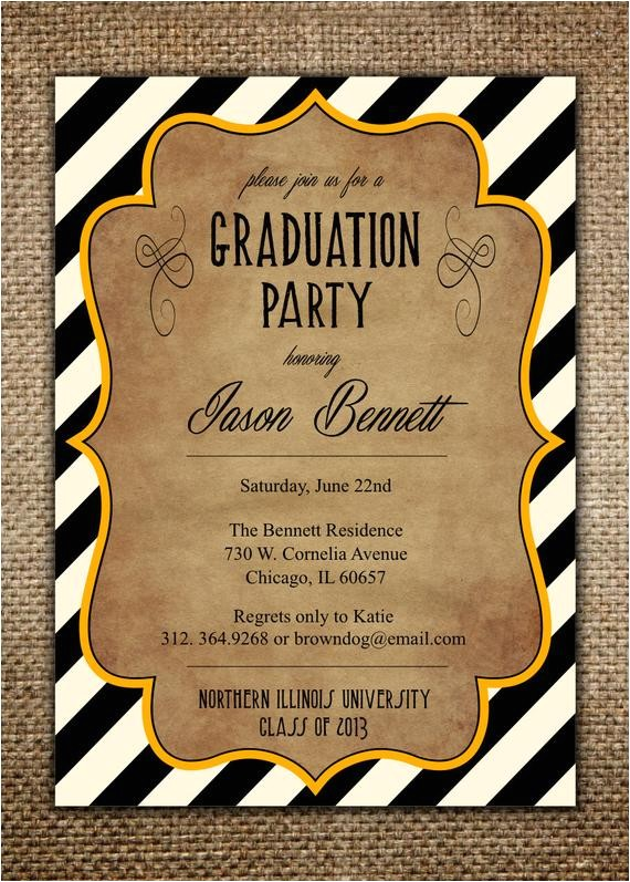 graduation party invitation high