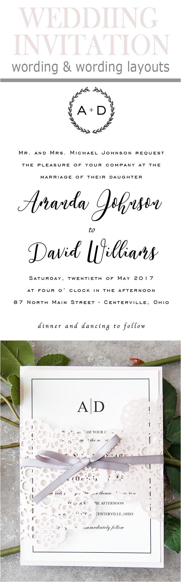 Common Wedding Invitation Wording 20 Popular Wedding Invitation Wording Diy Templates Ideas