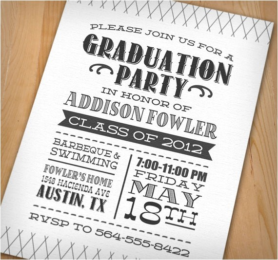 Cool Graduation Party Invitations Wip Blog Graduation Party Ideas