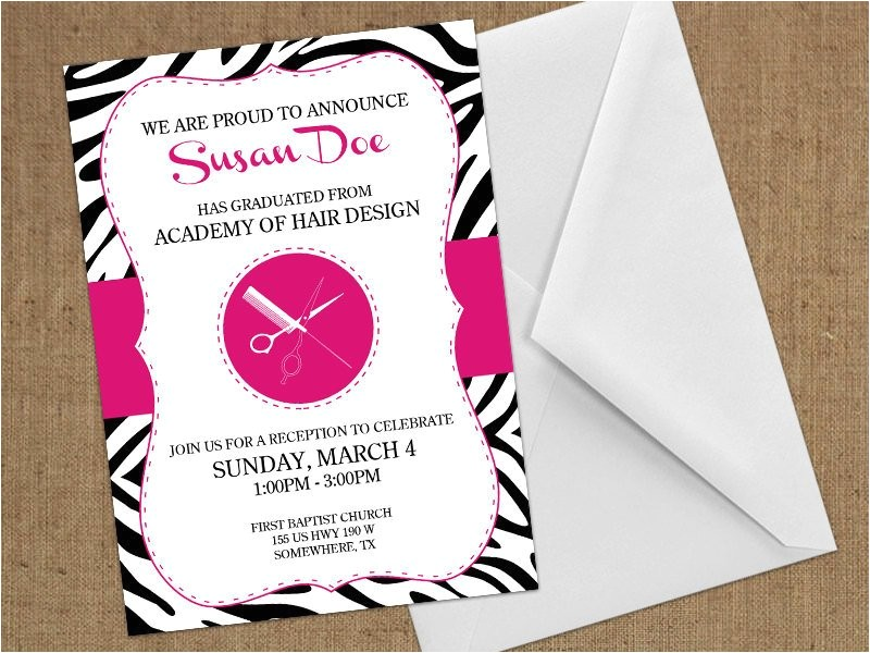 invitations cosmetology beauty school