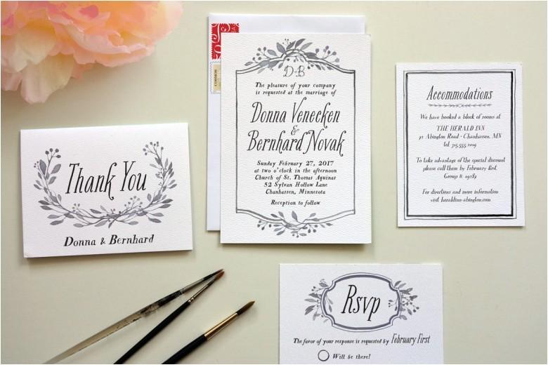 cost of diy wedding invitations