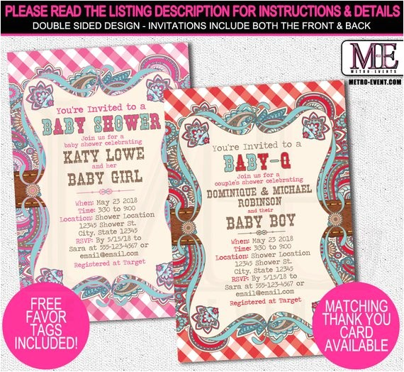 baby shower invitations country baby shower