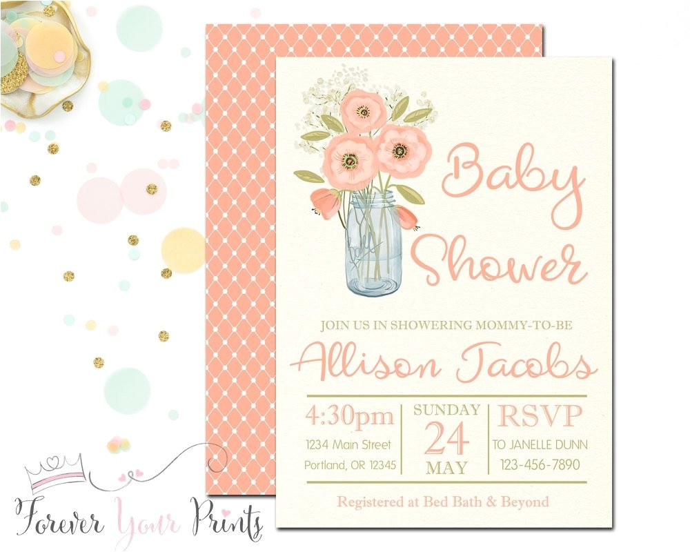 rustic baby shower invitation country