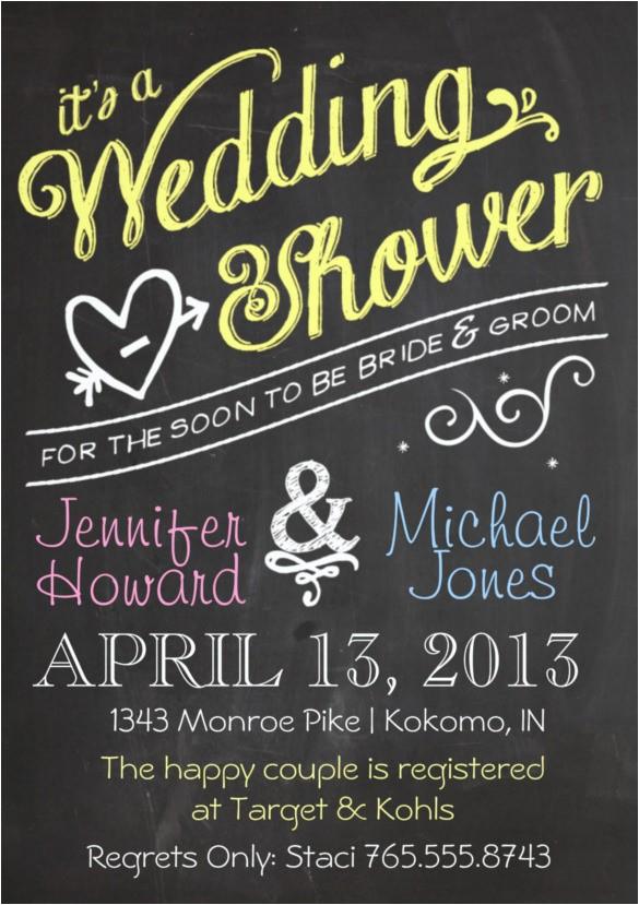 Couples Wedding Shower Invitations Templates Free 26 Wedding Shower Invitation Templates Free Sample