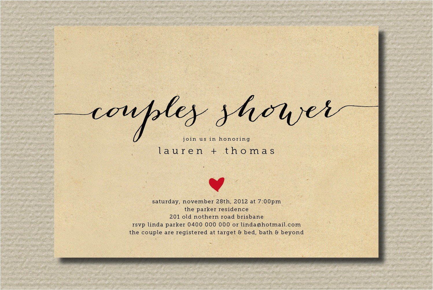 bridal shower invitations for couples