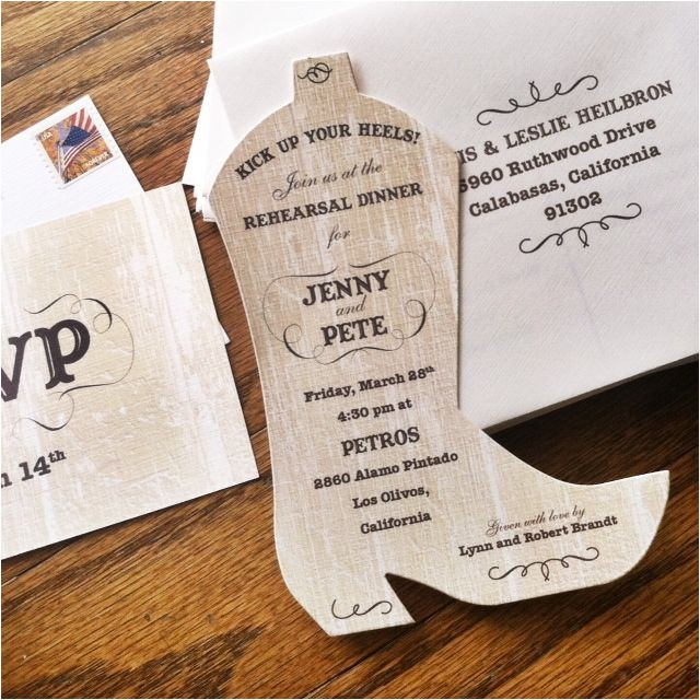 die cut invitations and party details