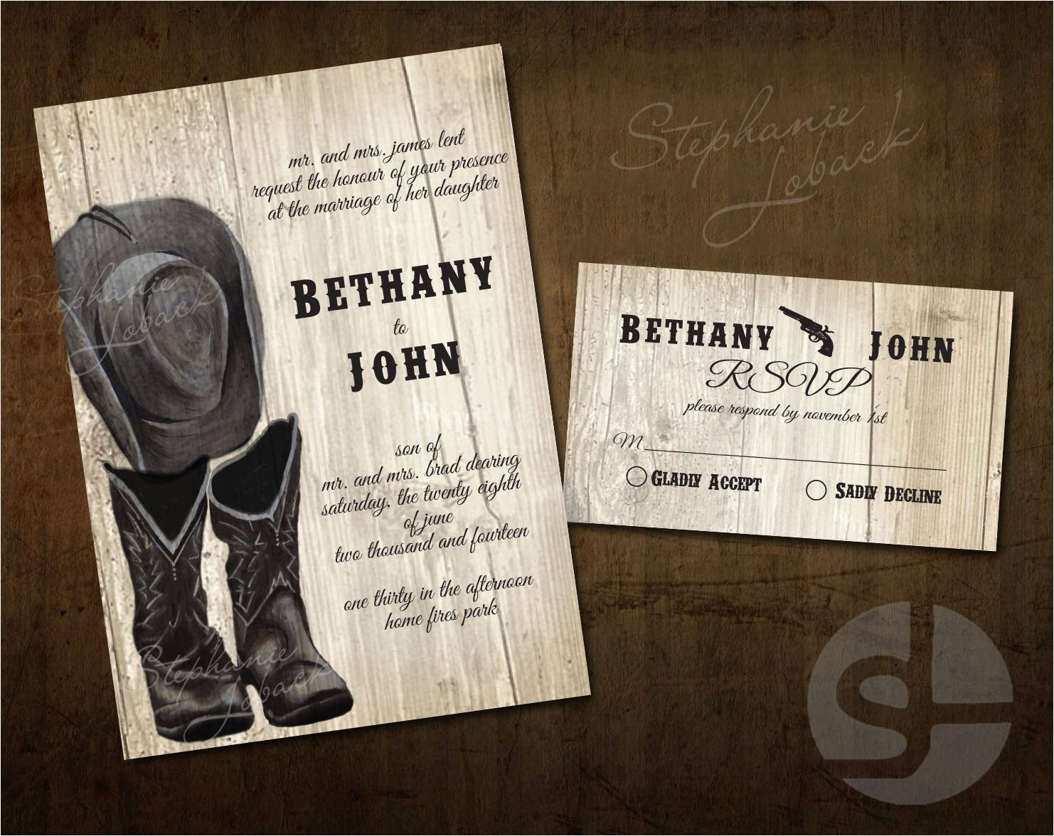 country wedding invitation print printable invitation instant download cowboy boots and hat paper goods