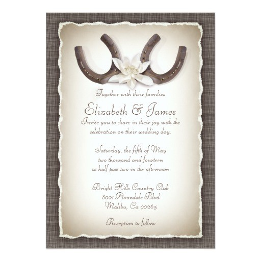 western wedding invitations 161270403050818811