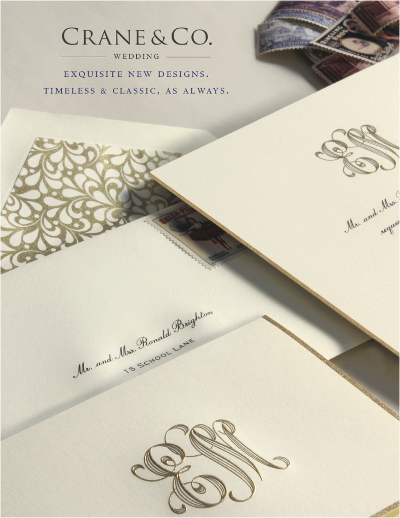new crane co wedding invitations