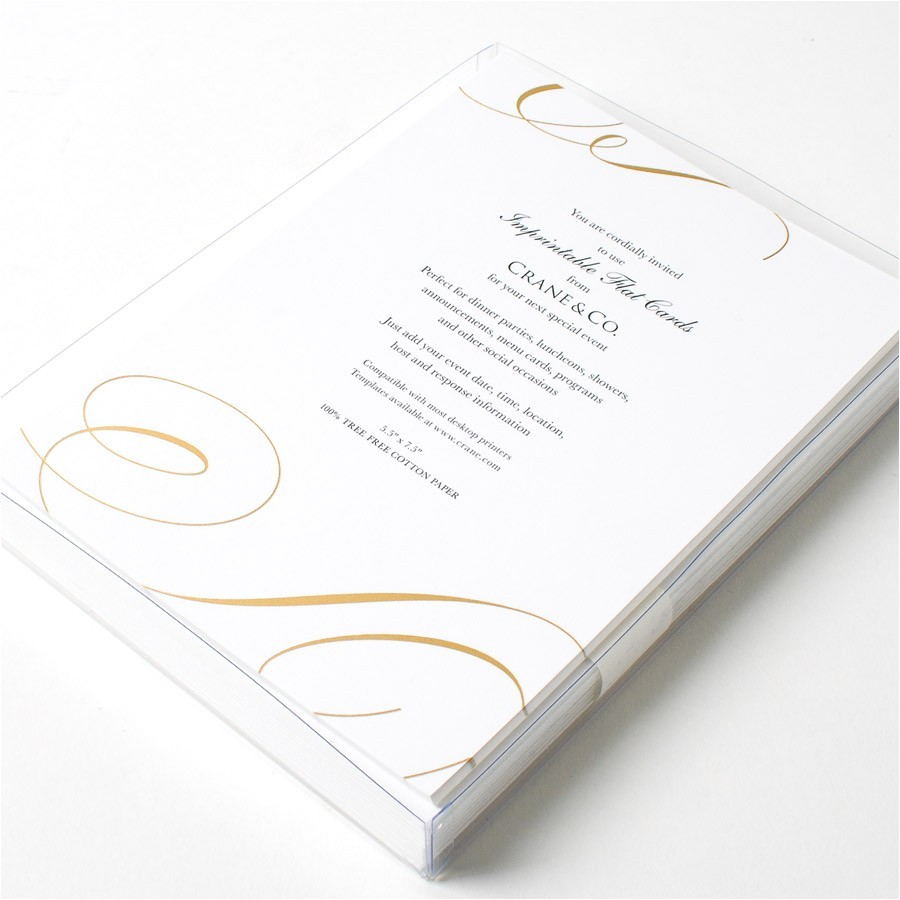gold scroll imprintable invitations by crane co