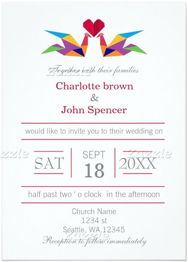 11 incredible origami crane wedding invitations