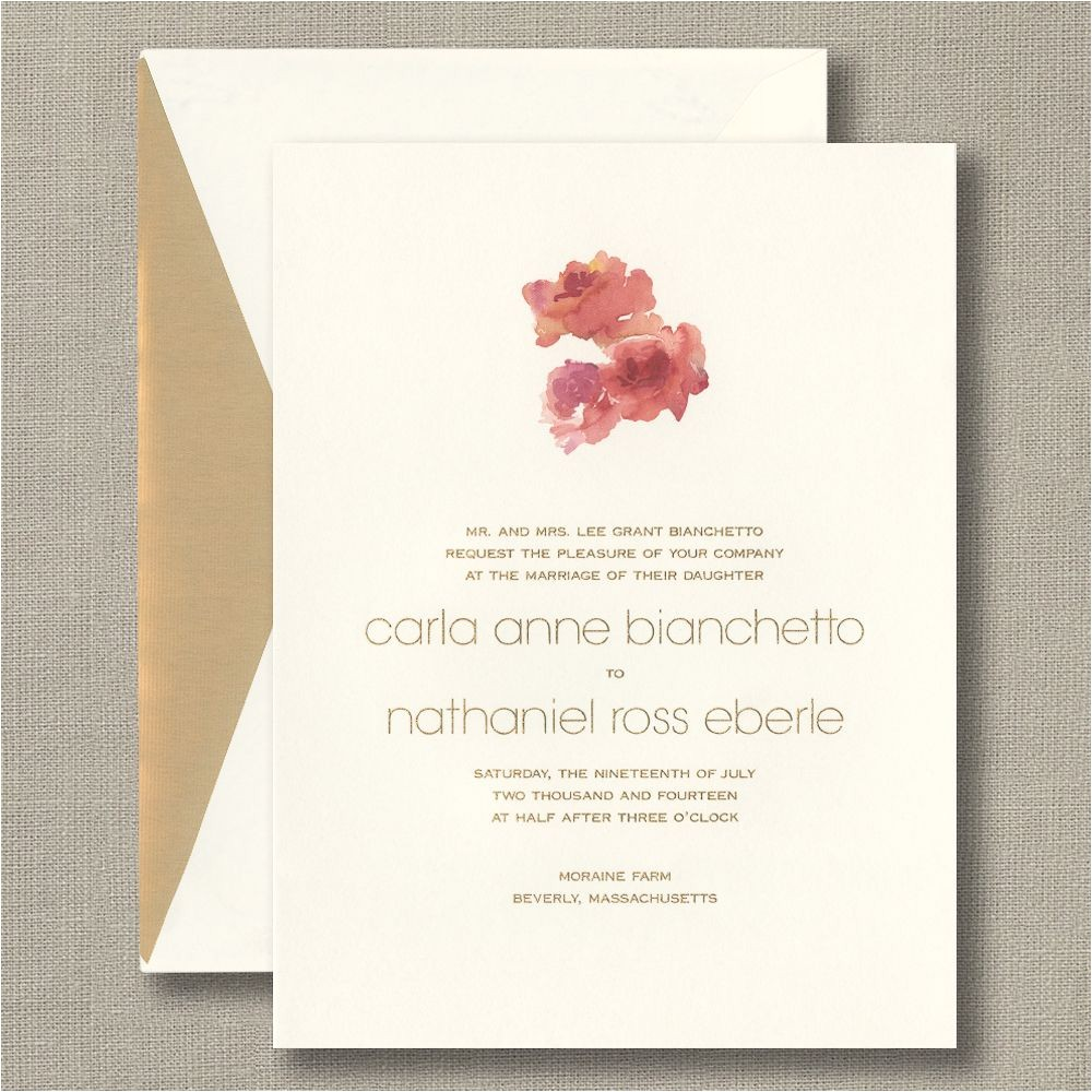 designs wedding invitations by crane in conjunction with cr