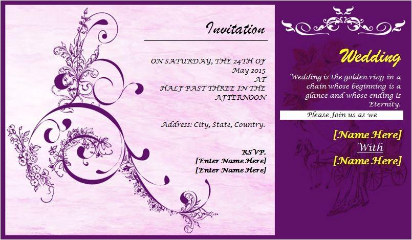 wedding card templates 71742