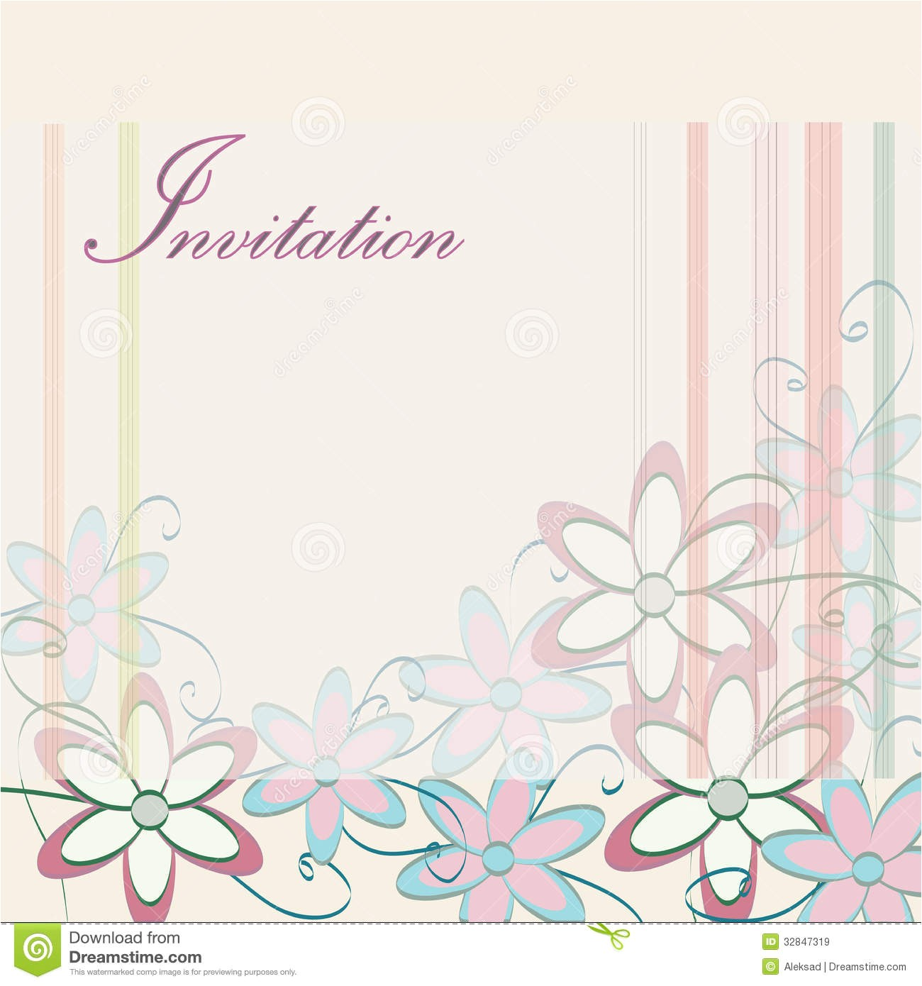 royalty free stock images wedding invitation template party card design flowers stripes image32847319