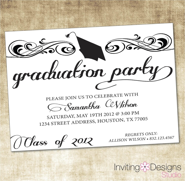 create graduation invitations online free printable 030639602