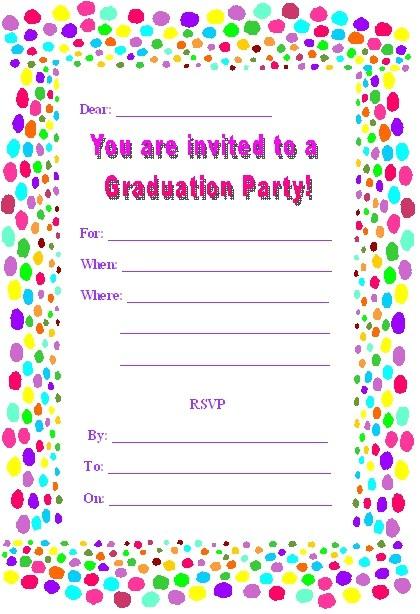 free printable graduation party invites
