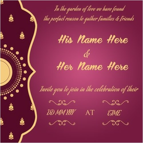free wedding card online