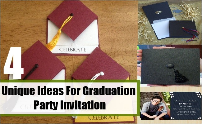 unique ideas for graduation party invitation