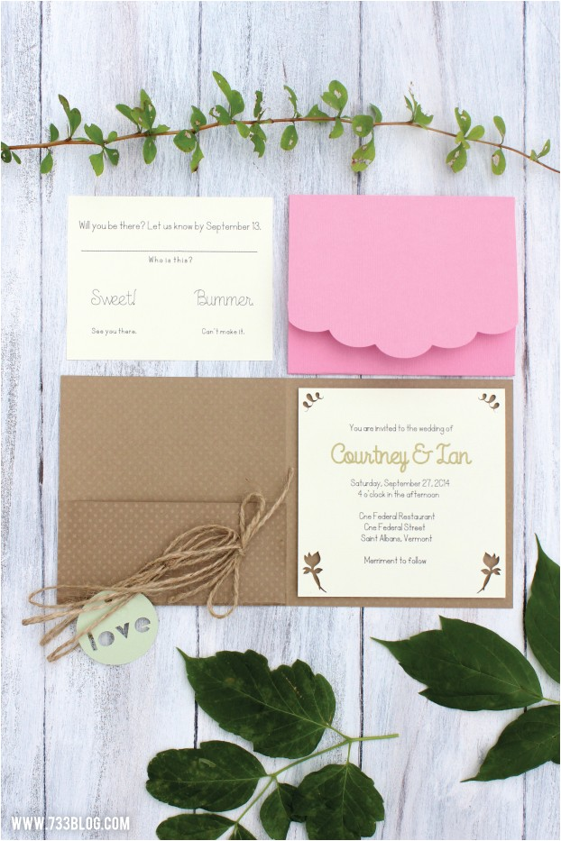 diy rustic wedding invitations