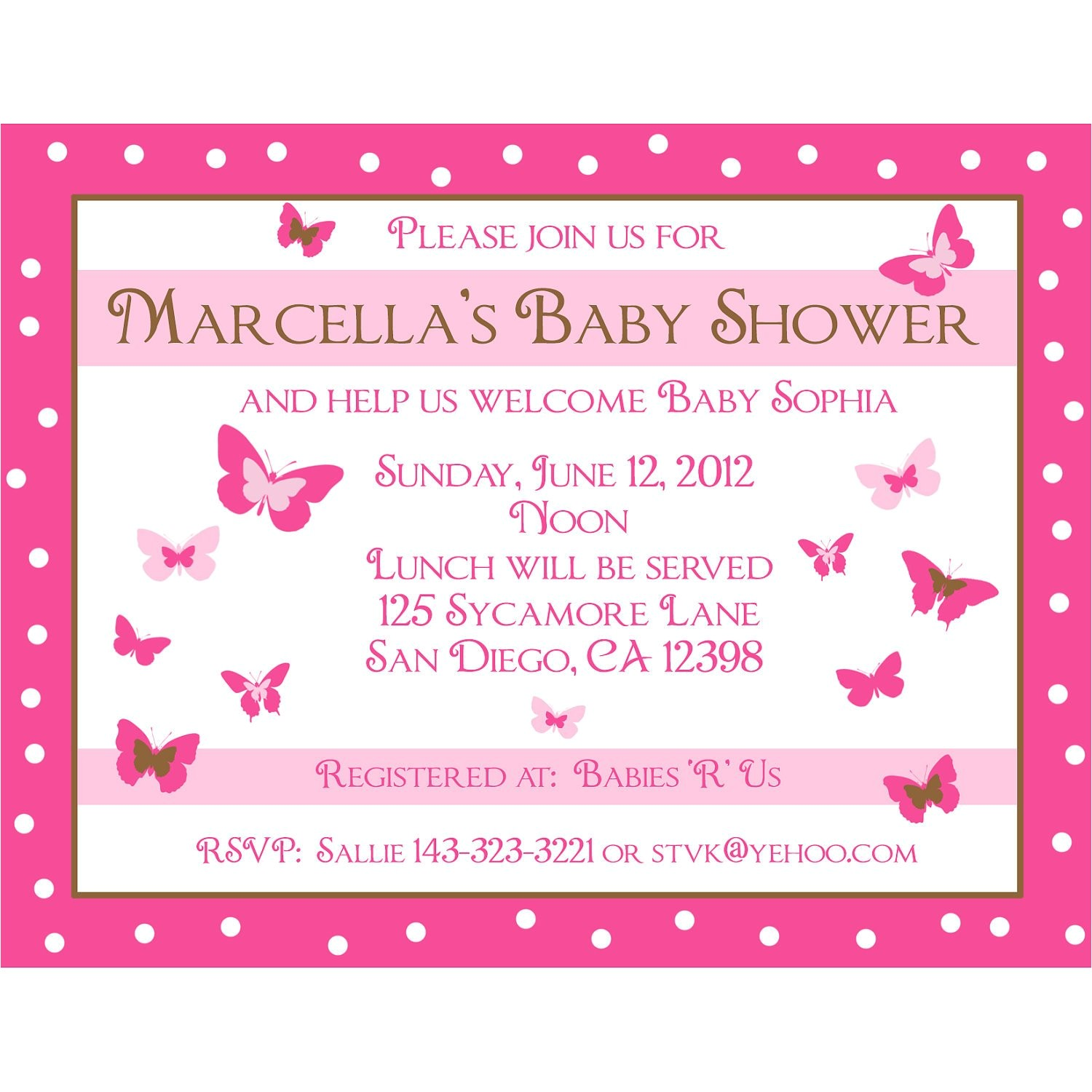 20 personalized baby shower invitations