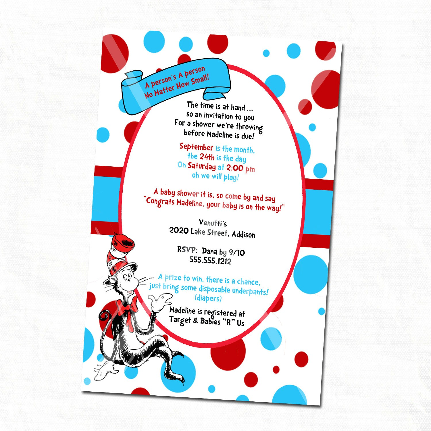custom dr seuss baby shower invitations printable free