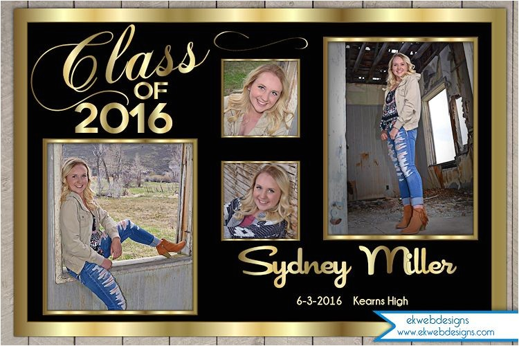 personalized graduation announcement or invitation with photos