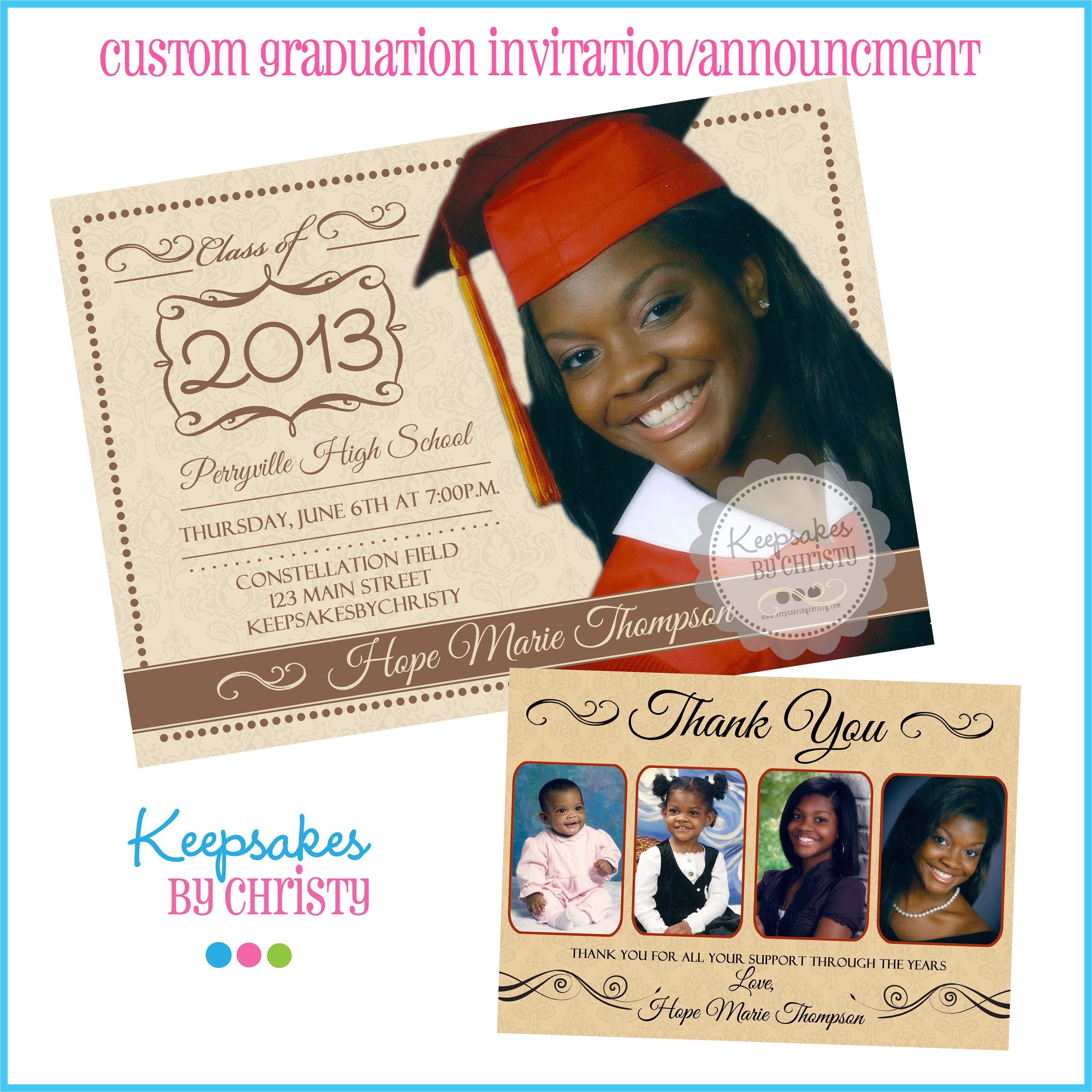 personalized graduation invitations