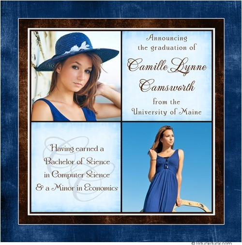 personalized college graduation announcement