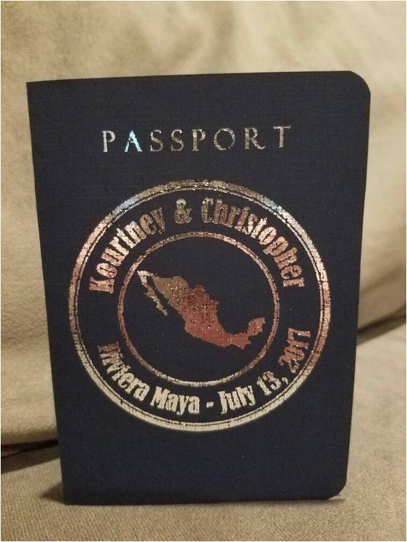 custom passport invitations wedding