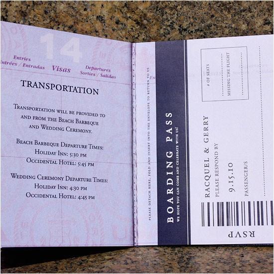 raquel gerrys custom passport wedding invites