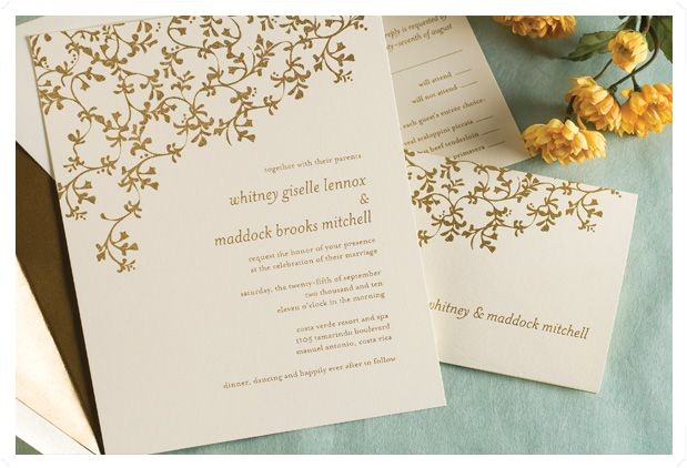 thermography wedding invitations