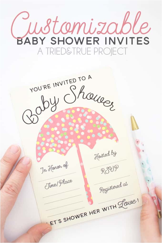 customizable baby shower invites