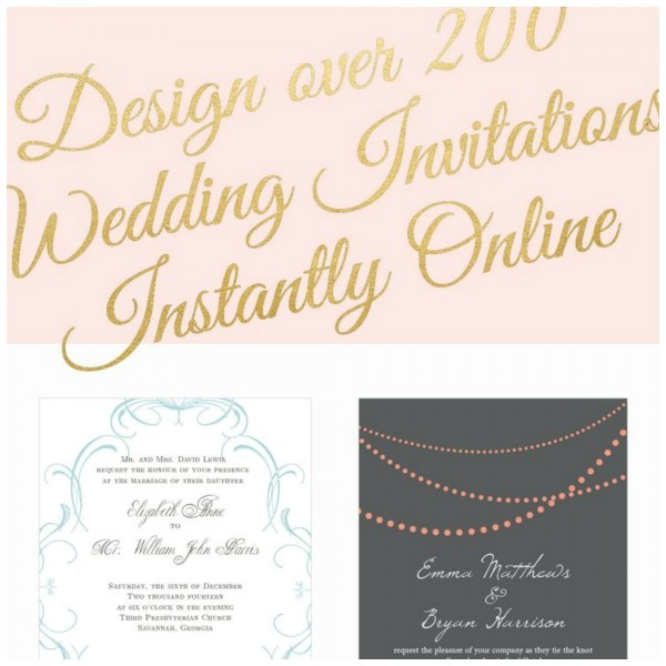 design and customize your own wedding invitations