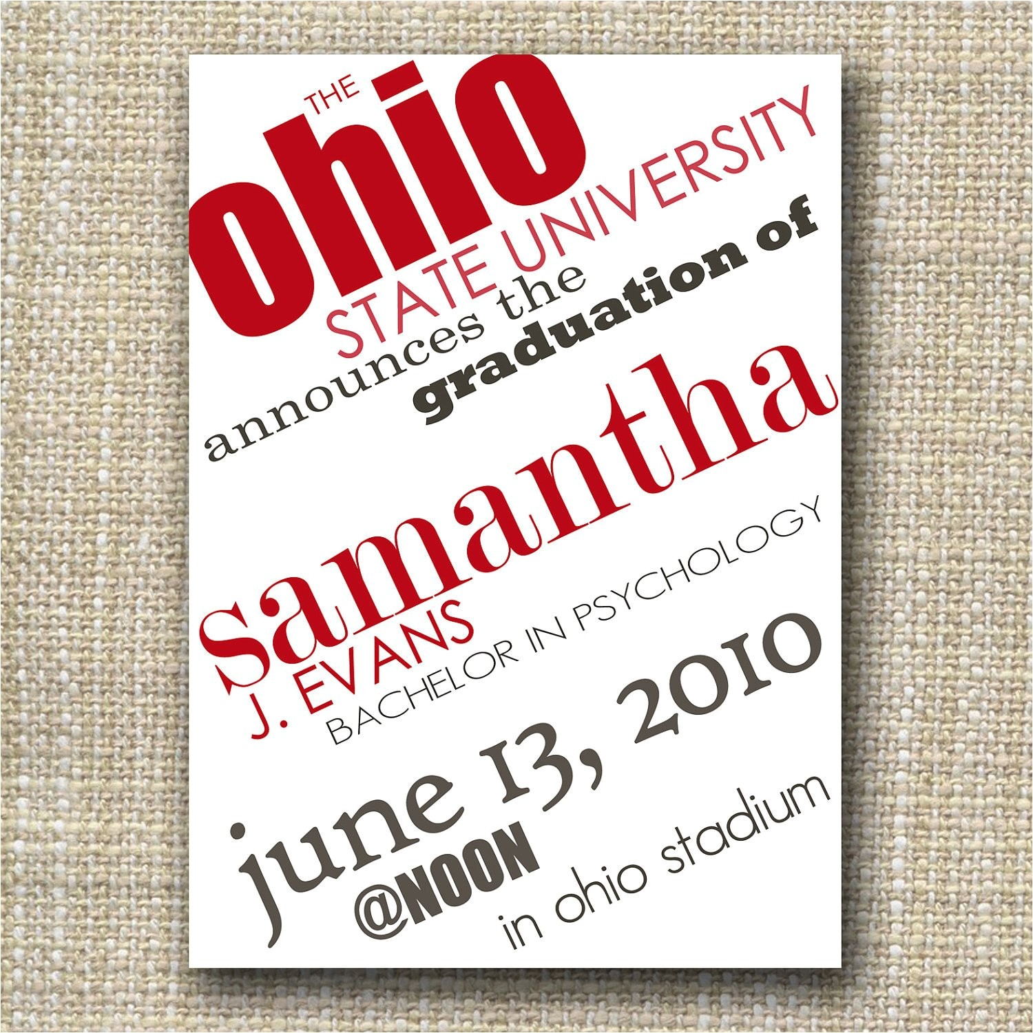 custom graduation invitation or