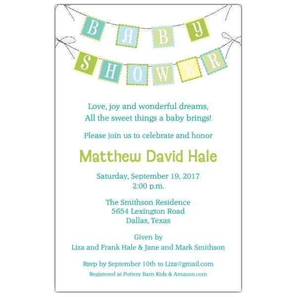 baby shower brunch invitations wording templates