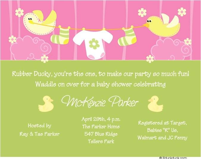 cute baby girl shower invitations