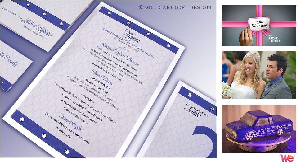 david tutera wedding invitation