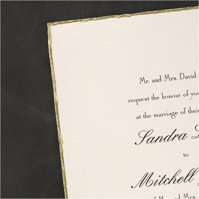 deckle edge invitations