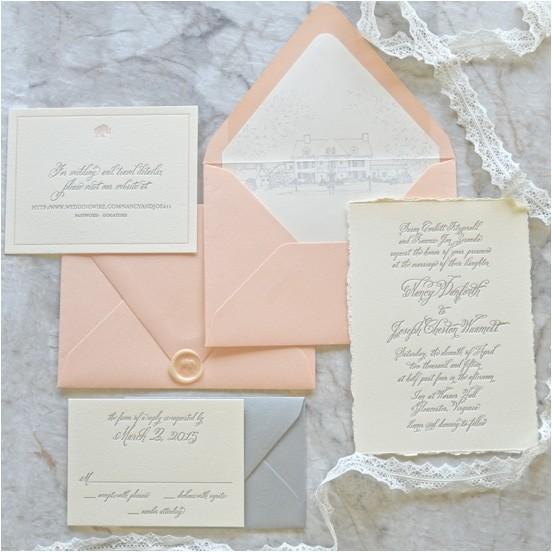deckle edge wedding invitations 030141670